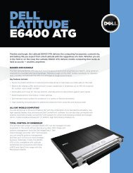 DELL™ LATITUDE™ E6400 ATG