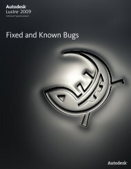 Fixed and Known Bugs - Autodesk
