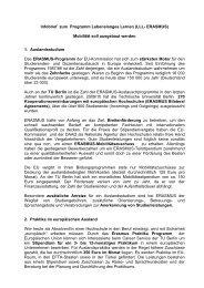 Infobrief zum Programm Lebenslanges Lernen (LLL- ERASMUS ...