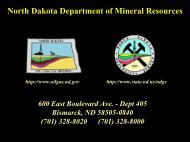 North Dakota Petroleum Council Presentation - Department of ...