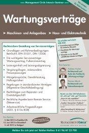 Seminar: Wartungsverträge - Management Circle AG