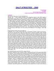 DALIT ATROCITIES - 2005 - Indian Social Institute