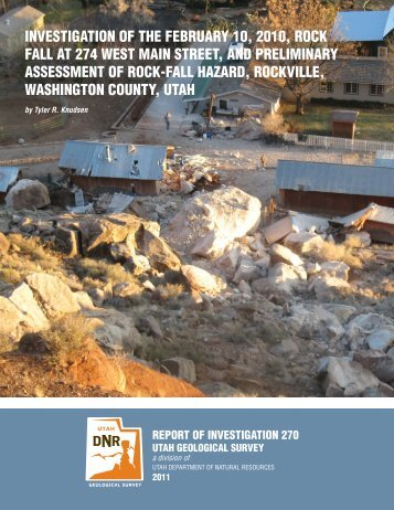investigation of the february 10, 2010, rock fall at 274 west main ...