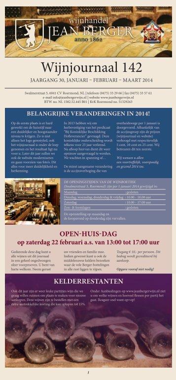 Wijnjournaal 142 - Wijnhandel Jean Berger