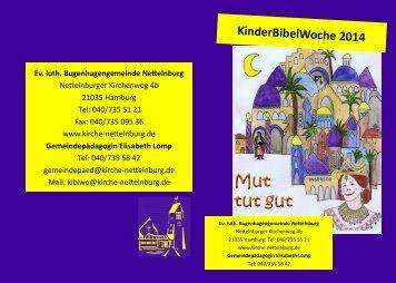 KinderBibelWoche 2014 - Ev.-Luth. Bugenhagengemeinde ...