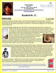 Rundbrief Nr. 12 SERVUS