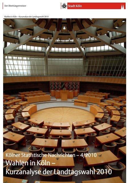 Analyse der Landtagswahl 2010 - Mützenich, Dr. Rolf