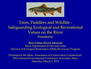 Trees, Paddlers and Wildlife - Safeguarding Ecological and ...