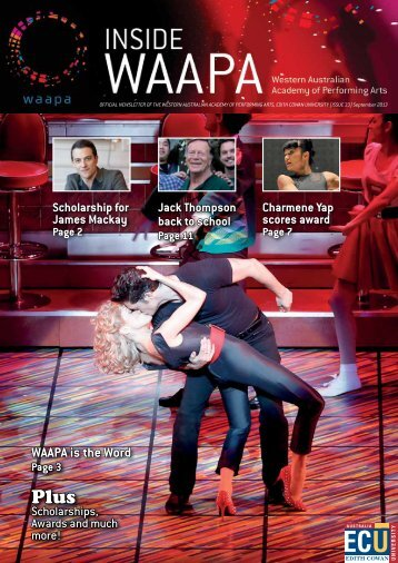 Inside WAAPA - Western Australian Academy of Performing Arts