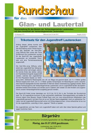 Amtsblatt KW 26 - Verbandsgemeinde Lauterecken