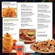 View our dinner menu. - Oshkosh Hotel