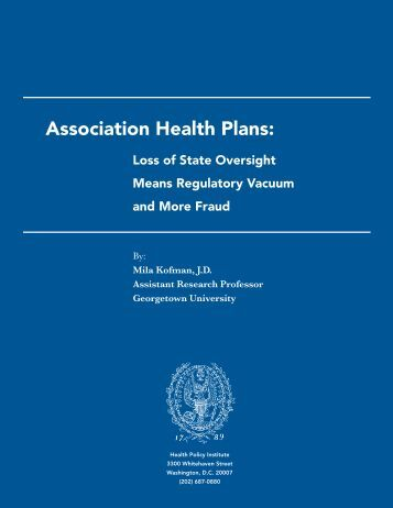 Full Report (PDF) - Georgetown University - Health Policy Institute