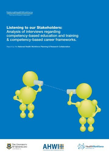 Listening to our Stakeholders - Health Workforce Australia