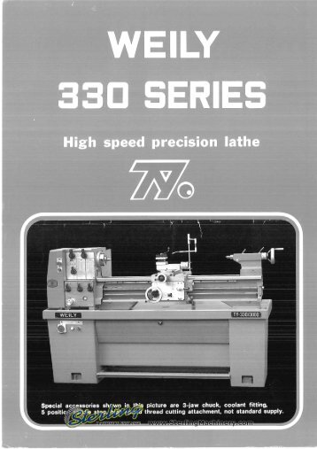 Weily 330 Series Lathe Brochure - Sterling Machinery