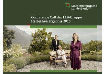 Präsentation [PDF, 472.7 KB] - Liechtensteinische Landesbank