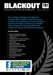 Team Newsletter #1 - Triathlon New Zealand