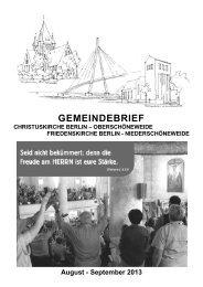 Aktueller Gemeindebrief im August und September - Ev-kirche ...