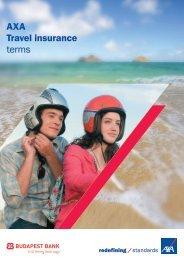 AXA Travel insurance terms - Budapest Bank