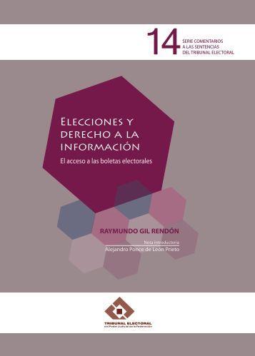 Elecciones y derecho a la información - Tribunal Electoral del Poder ...