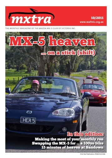 October - Mazda MX-5 Club of Victoria & Tasmania