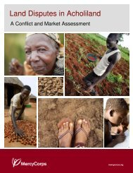 Land Disputes in Acholiland, A Conflict and Market ... - Mercy Corps