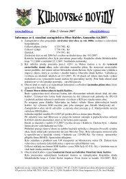 www.kublov.cz číslo 2 / červen 2007 obec@kublov.cz Informace ze ...