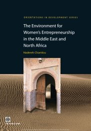 The Environment for Women's Entrepreneurship in the Middle East ...