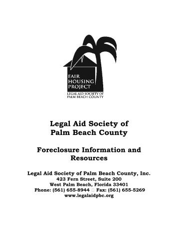 Community action foreclosure packet - Legal Aid Society