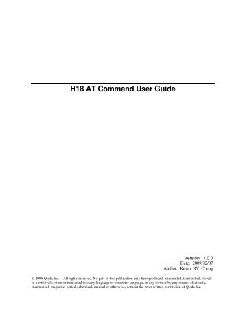 H18 AT Command User Guide - wless.ru