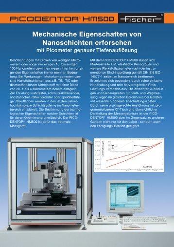 Mechanische Eigenschaften von Nanoschichten erforschen