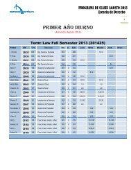 Programa Clases Agosto 2013 - Escuela de Derecho