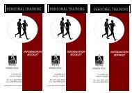 Personal Training Brochure - Whole - Ipswich PCYC