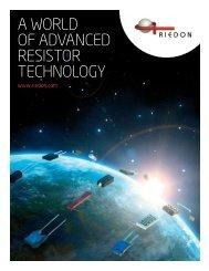 A WORLD OF ADVANCED RESISTOR TECHNOLOGY - Digikey