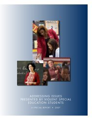 Addressing issues presented by violent special education students
