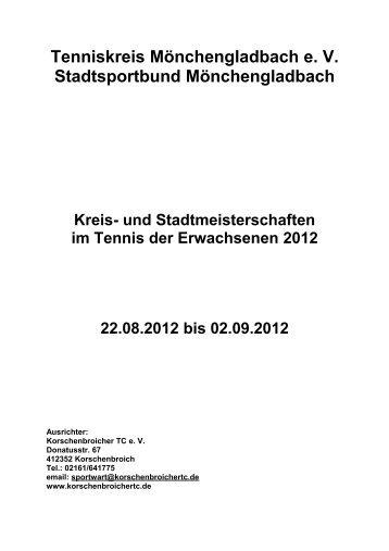 Tenniskreis Mönchengladbach e. V ... - Korschenbroicher