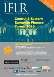 Central & Eastern European Finance Forum 2010 - IFLR.com