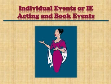 PowerPoint Presentation - Individual Events - John Paul II HS