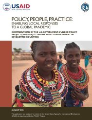 Policy, people, practice enabling local responses ... - POLICY Project