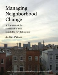 Managing Neighborhood Change - National Housing Institute