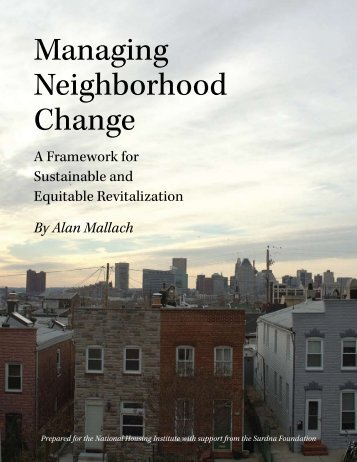 Managing Neighborhood Change - National Housing Institute