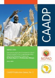Synthesis Report of a Parliamentary Dialogue - CAADP