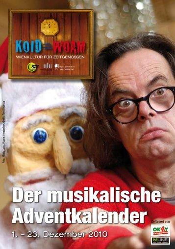 Der musikalische Adventkalender - Wienerlied-und? - Musikalischer ...