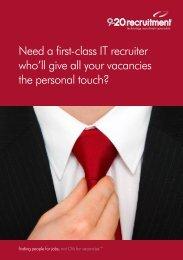 financial services sector brochure - 9-20 Recruitment