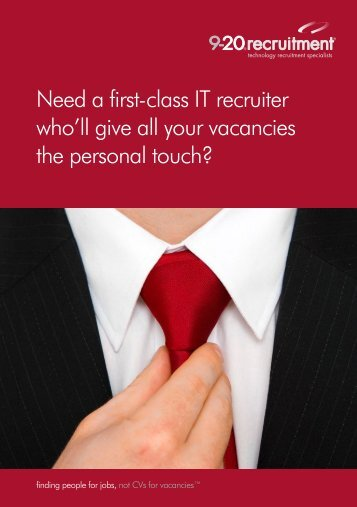 financial services sector brochure - 9-20 Recruitment