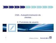 CSA – Autoadministración de clientes 4. Funciones de usuario - GTB