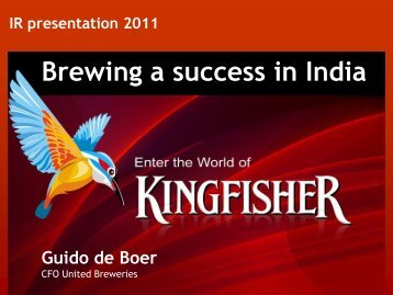Investor Presentation December 2011 - United Breweries Limited