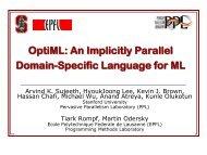 OptiML - Stanford PPL - Stanford University