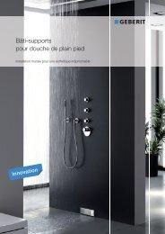 Bâti-supports pour douche de plain pied Geberit - Products