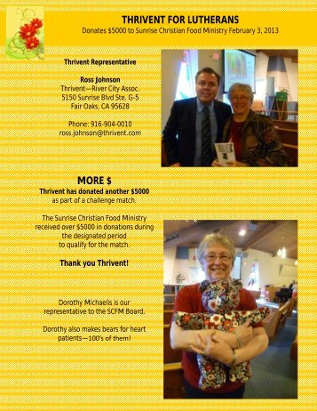 March 2013 Supplement - Advent Lutheran Church