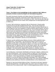 FEINDBILD ISLAM Zehn Thesen gegen den Hass - Infosperber